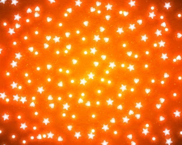 Fondo para tarjeta de feliz navidad y feliz año nuevo con luces brillantes realistas