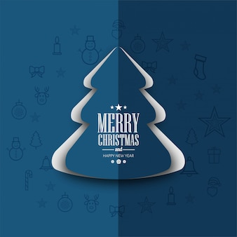 Fondo de tarjeta de feliz navidad festival