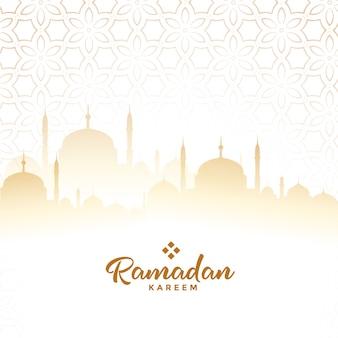 Fondo de tarjeta de festival árabe de ramadán kareem