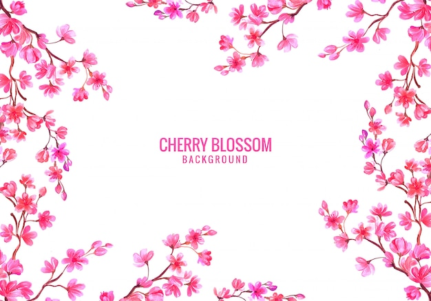 Fondo de tarjeta de flor de cerezo