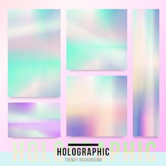 Fondo de la tarjeta holográfica.
