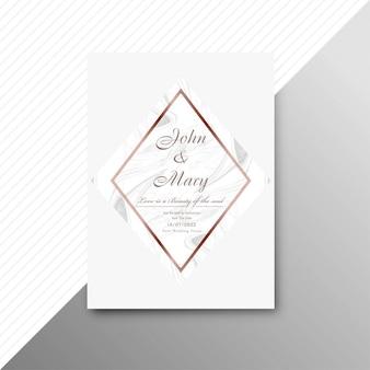 Fondo de tarjeta de invitación de boda moderna
