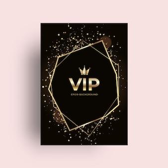 Fondo de tarjeta de oro vip