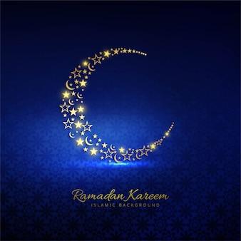 Fondo de tarjeta religiosa decorativa de ramadán kareem