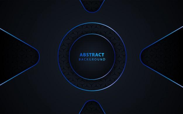 Fondo de tecnología abstracta con azul metálico