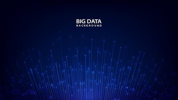 Fondo de tecnología abstracta con big data