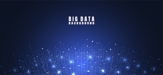 Fondo de tecnología abstracta con big data