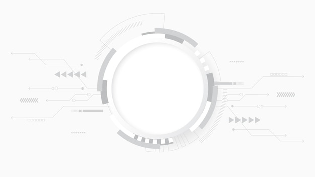 Fondo de tecnología abstracta blanco gris, conexión digital de alta tecnología, comunicación
