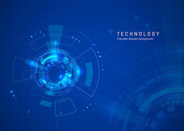 Fondo de tecnología abstracta del ciberespacio de ciencia ficción
