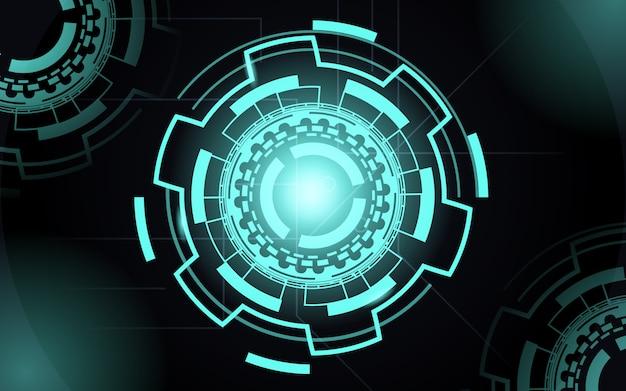 Fondo de tecnología abstracta con color azul