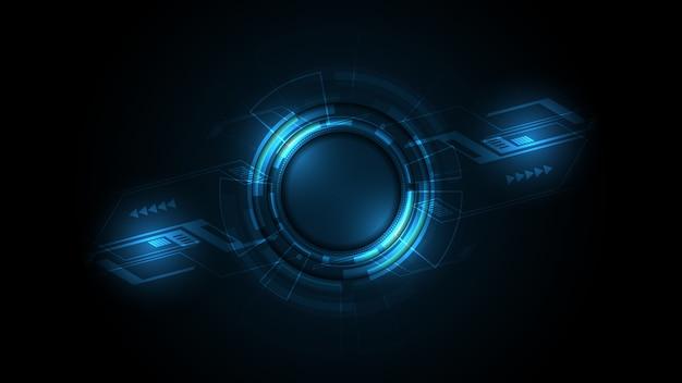 Fondo de tecnología abstracta concepto de comunicación de alta tecnología