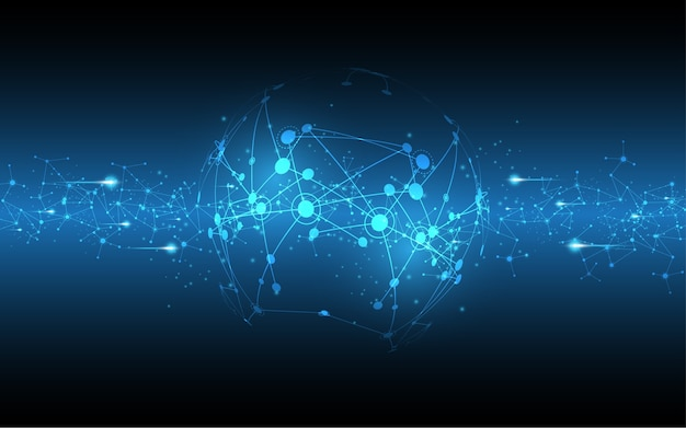 Fondo de tecnología abstracta de conexión de red global