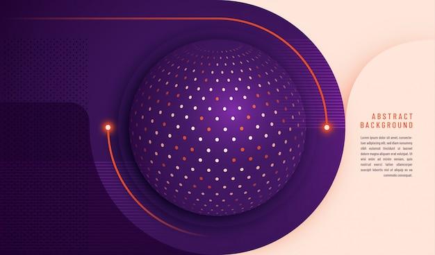 Fondo de tecnología abstracta con diseño de círculo y puntos y plantilla de texto