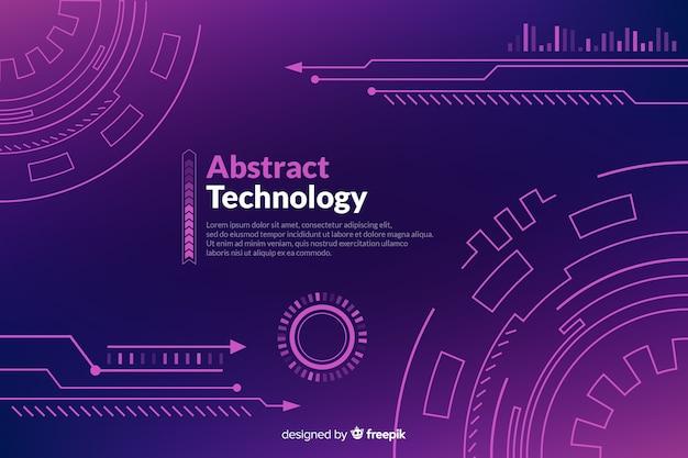 Fondo de tecnología abstracta en estilo hud