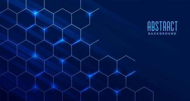 Fondo de tecnología abstracta con estructura molecular