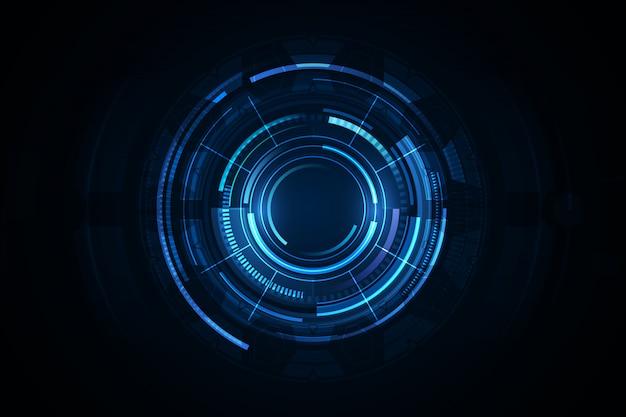 Fondo de tecnología abstracta fondo de innovación de concepto de comunicación de hitech