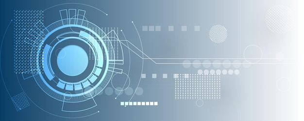 Fondo de tecnología abstracta, ilustración, innovación de concepto de comunicación de alta tecnología
