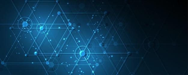 Fondo de tecnología abstracta ilustración de vector de fondo de innovación de concepto de comunicación de alta tecnología