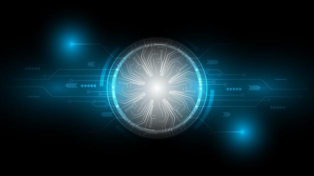 Fondo de tecnología abstracta, innovación de concepto de comunicación de alta tecnología, ciencia y tecnología digital