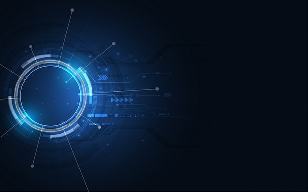 Fondo de tecnología abstracta. innovación en concepto de comunicación de alta tecnología.