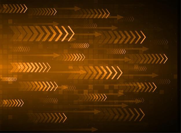 Fondo de tecnología abstracta de luz azul flecha