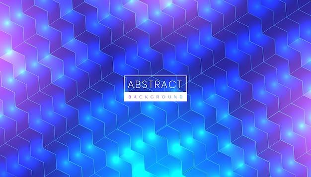 Fondo de tecnología abstracta moderna con luz de neón futurista y superficie brillante