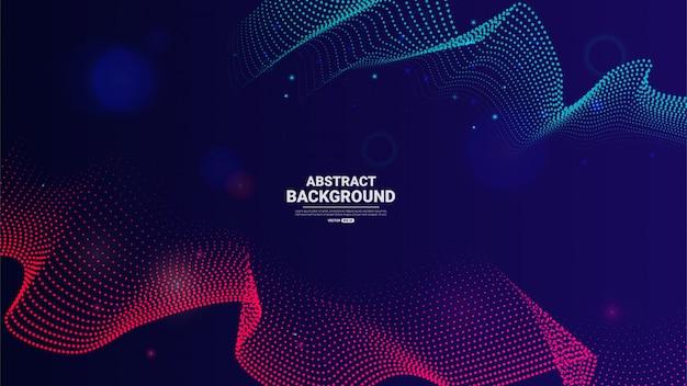 Fondo de tecnología abstracta con partículas que fluyen