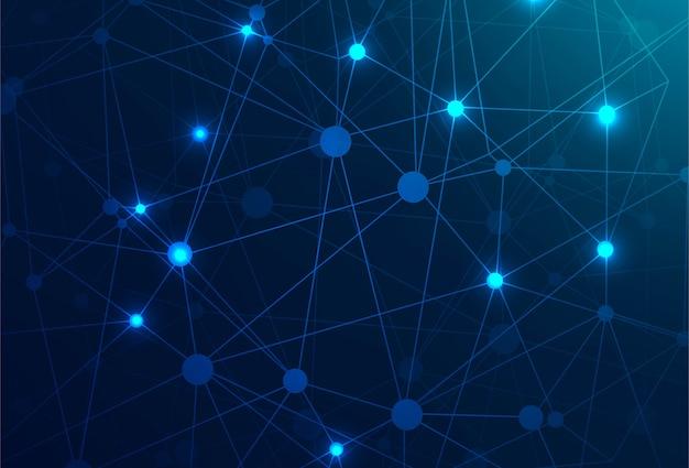 Fondo de tecnología abstracta polígono azul