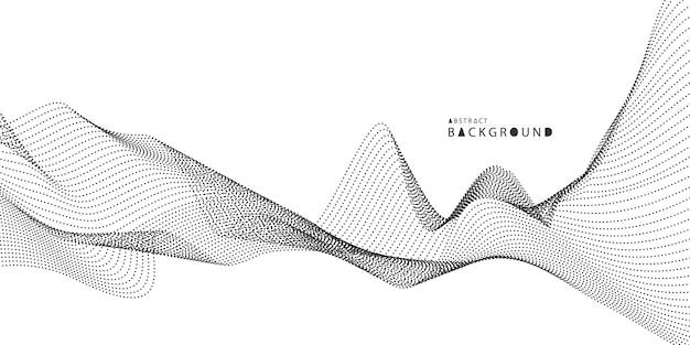 Fondo de tecnología abstracta. red de partículas de niebla ilustración de seguridad cibernética.
