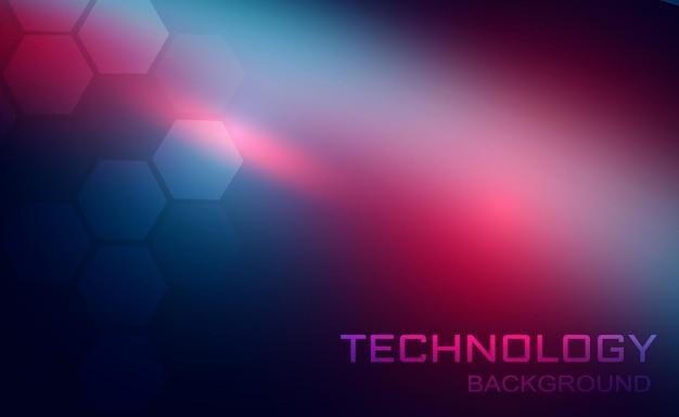Fondo de tecnología abstracta de vector folleto de cartel de banner de color azul y rojo