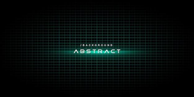 Fondo de tecnología abstracta verde con efecto de luz