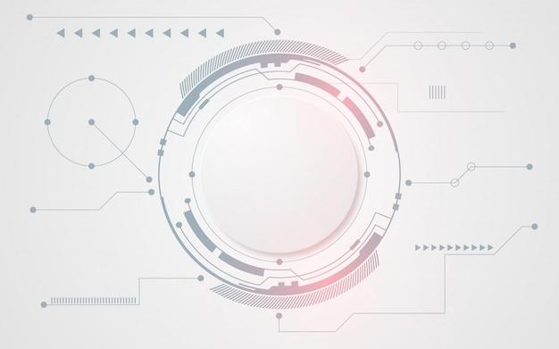 Fondo de tecnología abstracto blanco