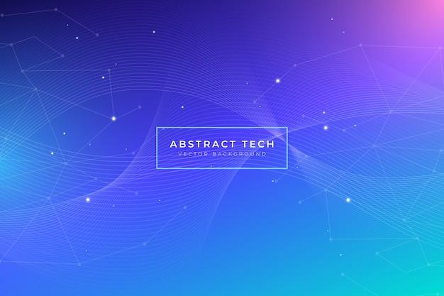 Fondo de tecnología abstracto con puntos brillantes vector gratuito