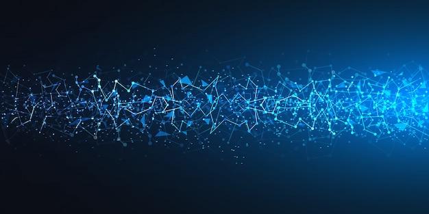 Fondo de tecnología azul futurista