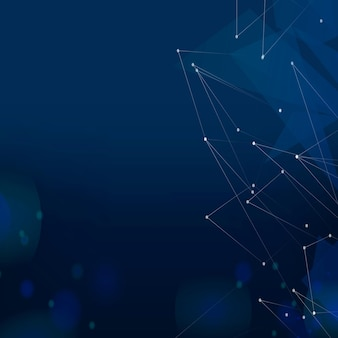 Fondo de tecnología azul marino cuadrícula digital