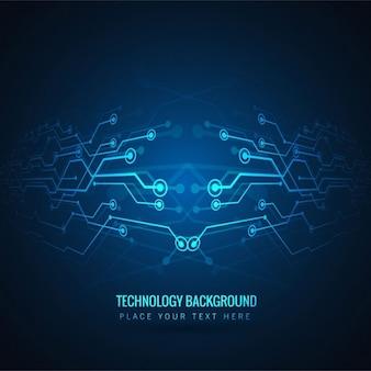 Fondo de tecnología azul moderno
