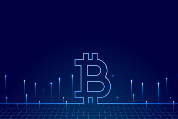 Fondo de tecnología bitcoin de moneda criptográfica de dinero virtual