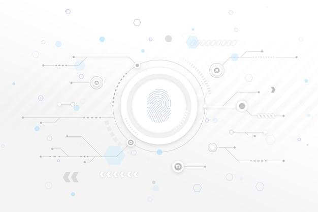 Fondo de tecnología blanca con flechas