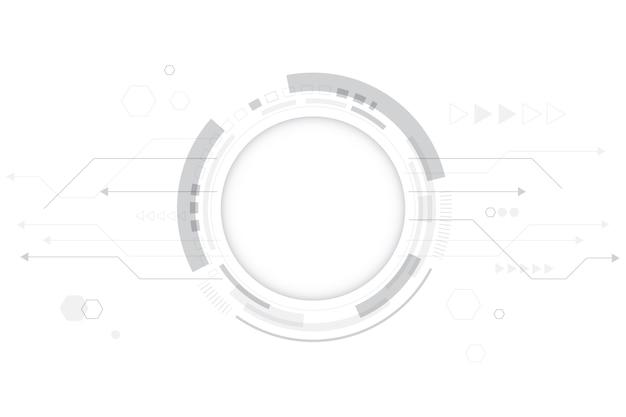 Fondo de tecnología blanca