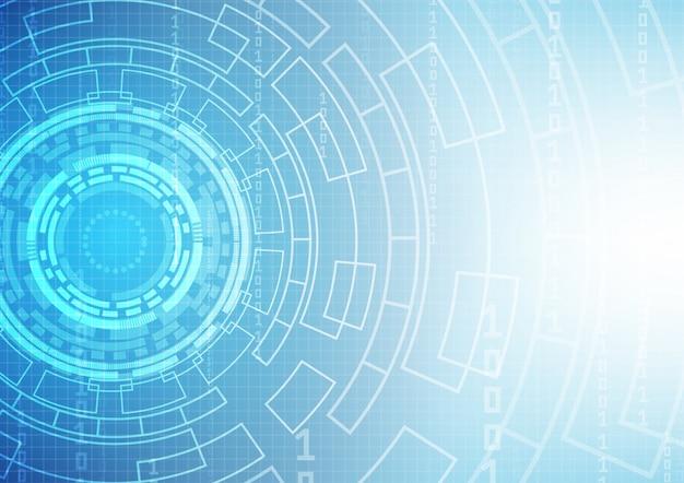 Fondo de tecnología de circuito con alta tecnología digital