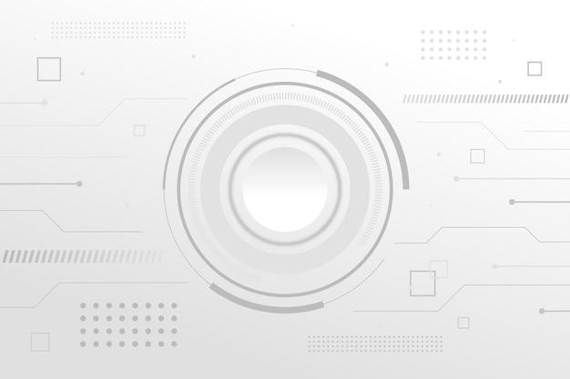 Fondo de tecnología de circuito blanco minimalista