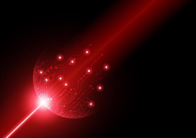 Fondo de tecnología de circuito con conexión de datos digitales