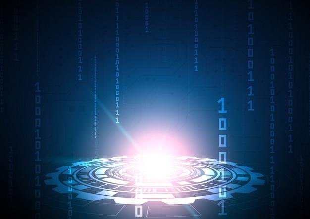 Fondo de tecnología de circuito con datos digitales de alta tecnología