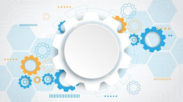 Fondo de tecnología de circuito de engranaje