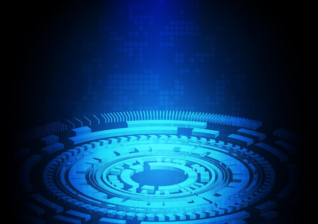 Fondo de tecnología de circuito con sistema de conexión de datos digitales de alta tecnología y diseño electrónico de computadora