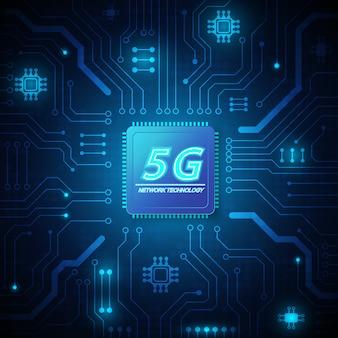 Fondo de tecnología de circuito de velocidad 5g