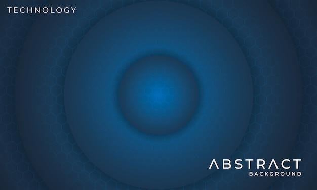 Fondo de tecnología circular futurista con efecto de luz hexagonal
