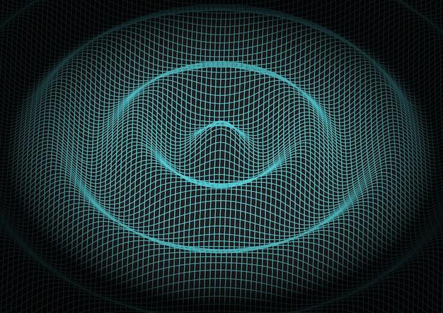 Fondo de tecnología de cuadrícula abstracta