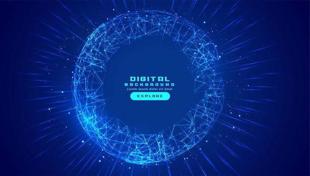 Fondo de tecnología digital de conexiones con malla de líneas