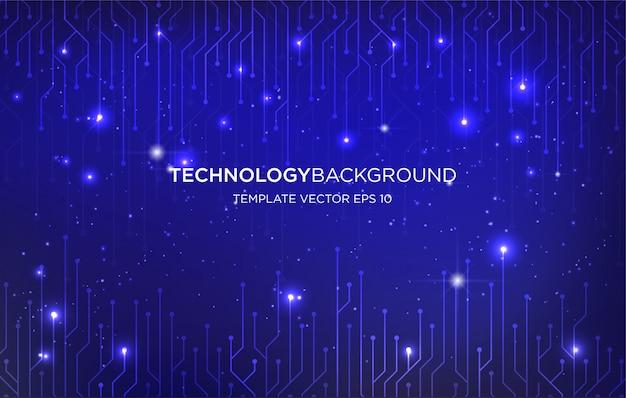 Fondo de tecnología digital fondo de plantilla
